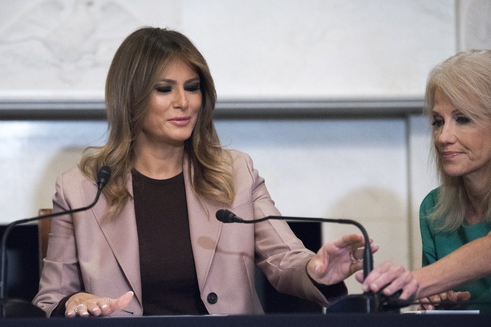 US first lady speaks on opioids in only solo trip to Congress