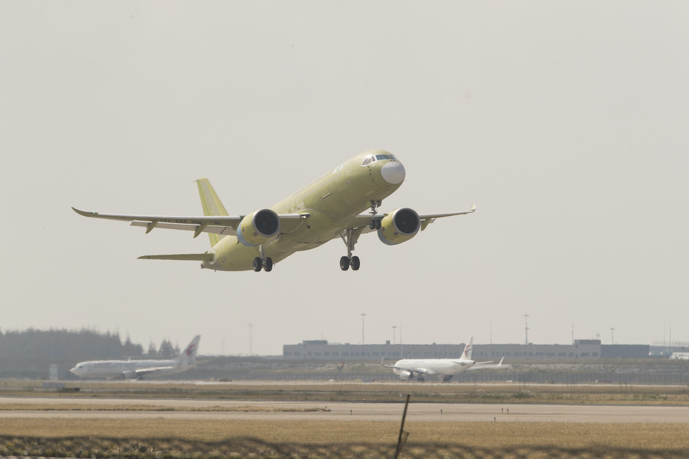 China's 5th C919 jet completes first test flight