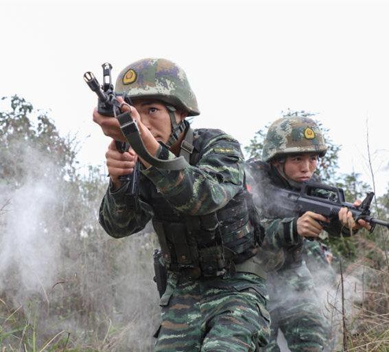 Armed police undergo intensive training in Guizhou