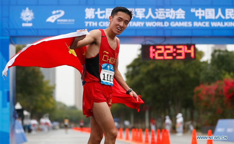 In pics: men's and women's 20km race walk at 7th CISM Military World Games