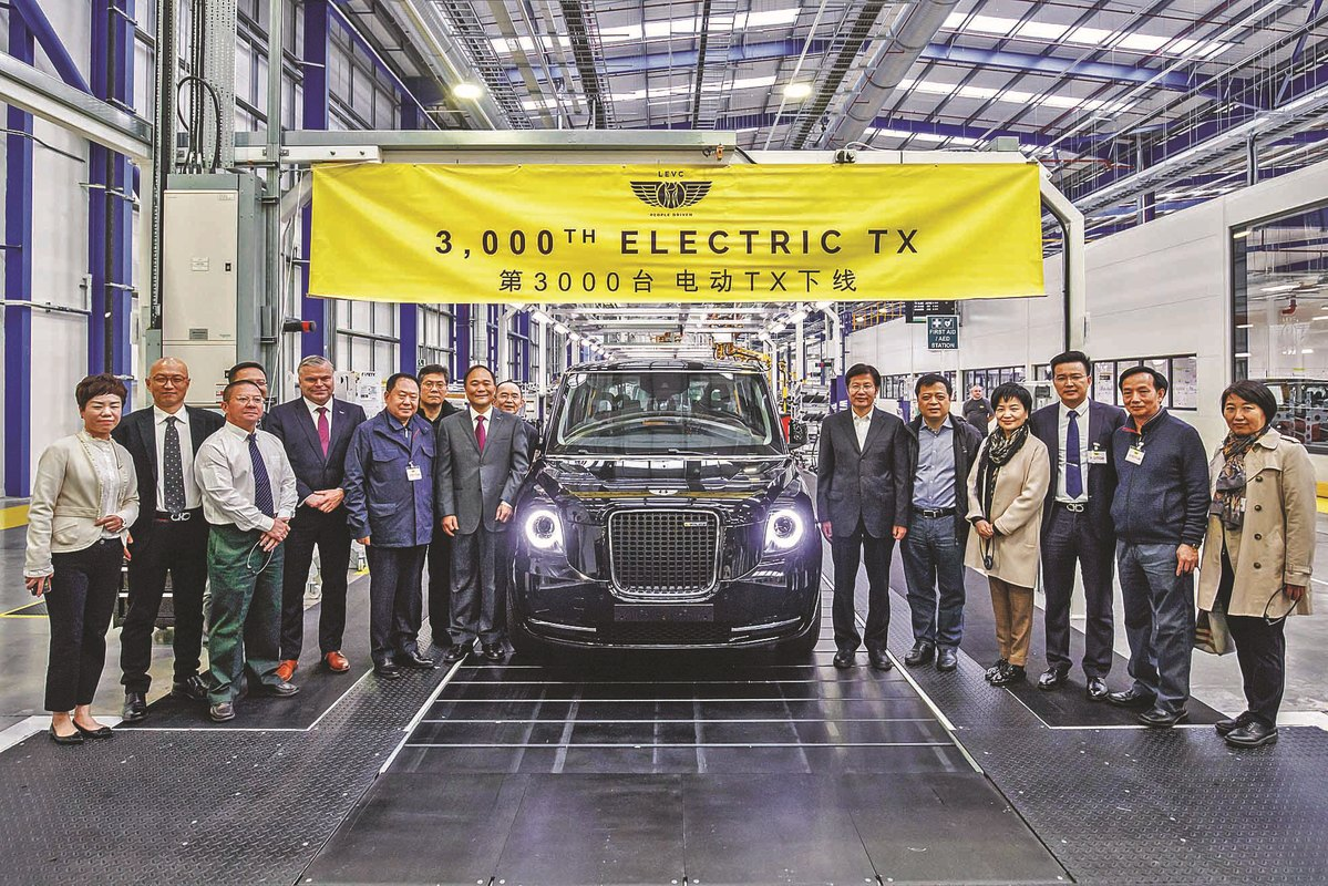 Chinese company celebrates making its 3,000th electric black cab