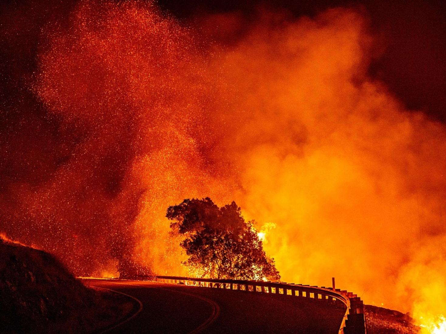 Evacuations as wildfire roars through California wine country