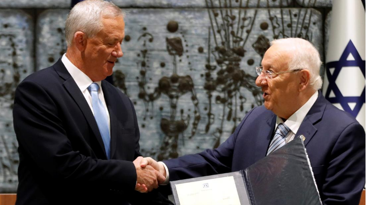 Israel's Gantz accepts mandate to form 'liberal unity government'