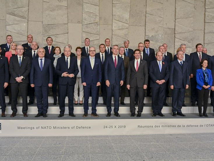 NATO ministers of defense meet at NATO HQ in Brussels