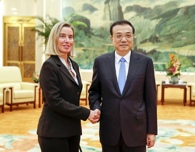 Chinese premier meets top EU diplomat