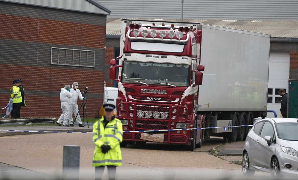 Three held over UK truck deaths freed on police bail