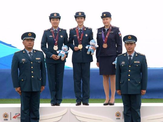 Awarding ceremony of parachuting at Military World Games