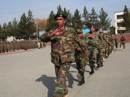 Afghan soldiers take part in graduation ceremony in Kabul