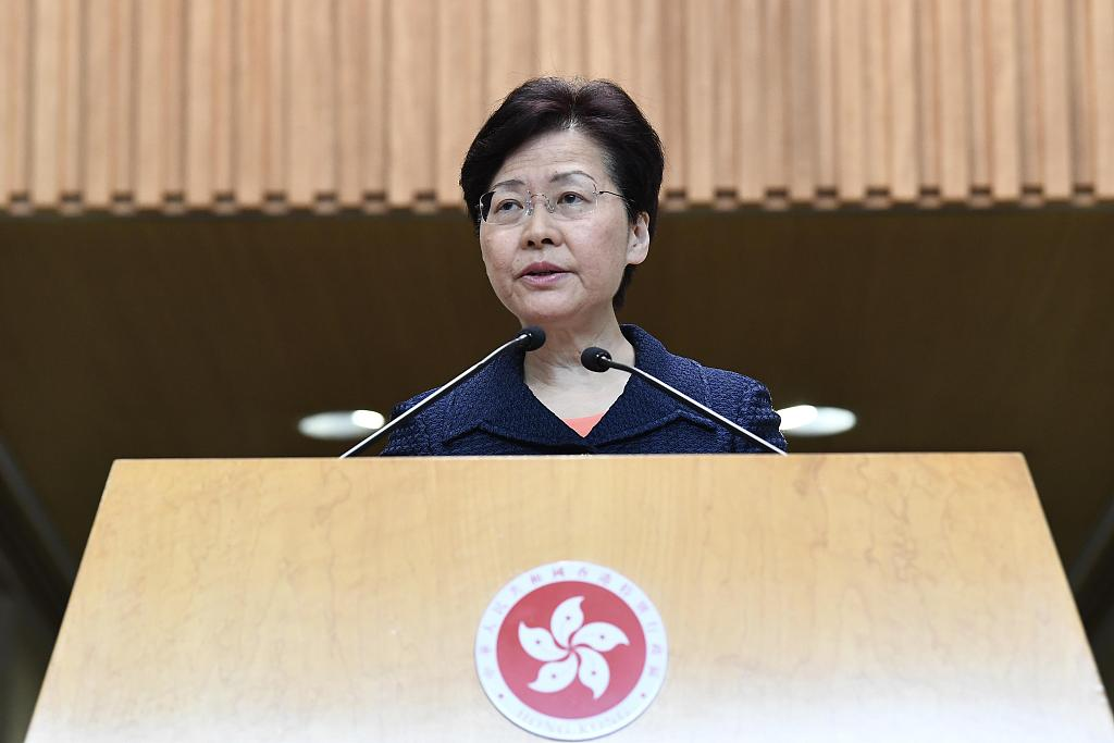 Carrie Lam: Ending violence 'fundamental' for economic recovery