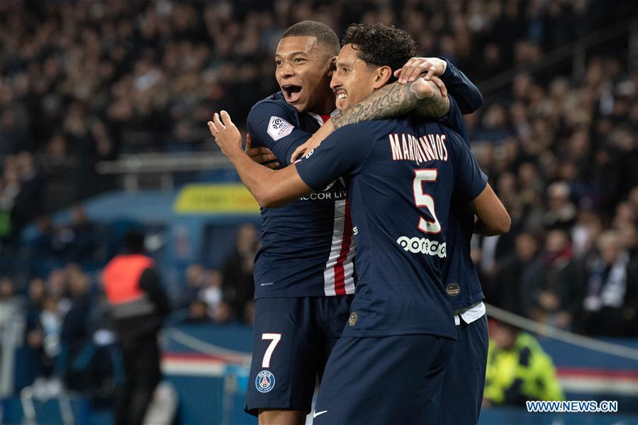 French Ligue 1 match: Paris Saint-Germain vs. Marseille