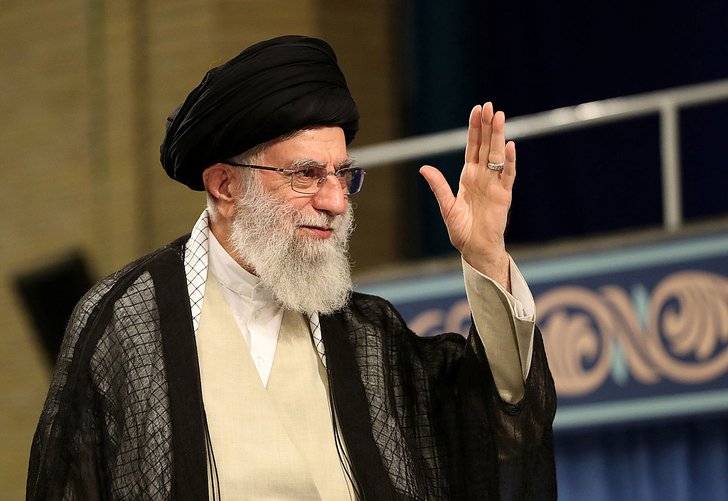 Iran's top leader blames US for unrests in region
