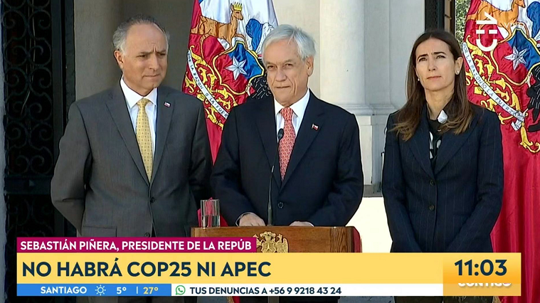 Crisis-wracked Chile pulls out as APEC, climate meet host