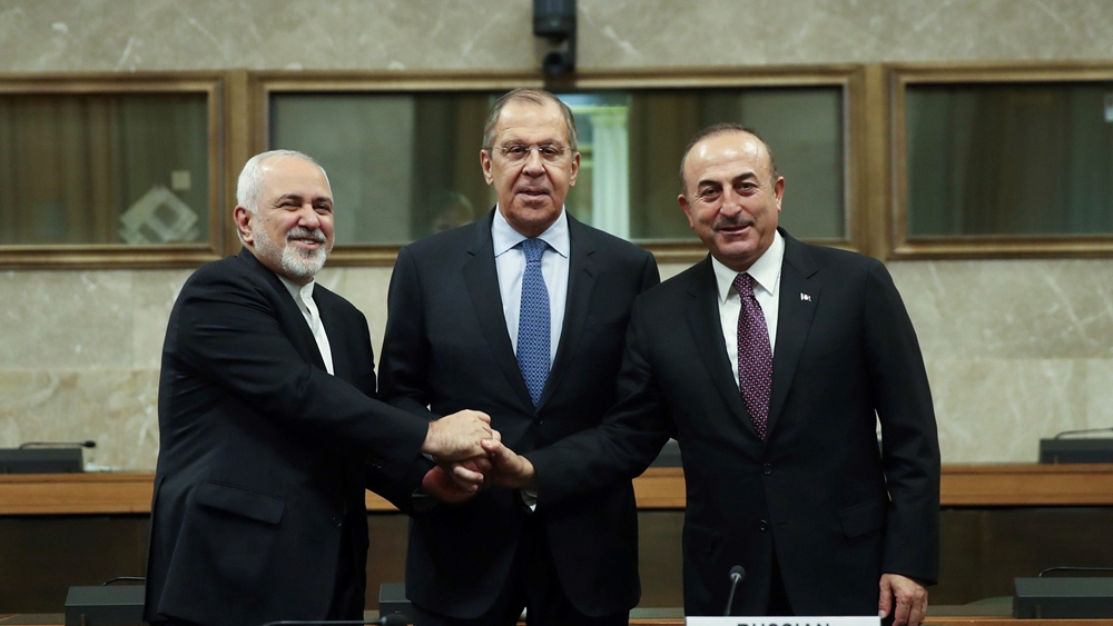 FMs of Turkey, Russia, Iran welcome upcoming launch of Syrian Constitutional Committee