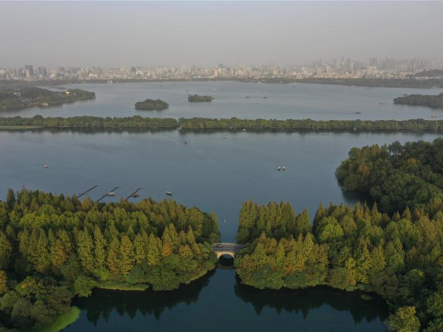 West Lake scenic area in Hangzhou