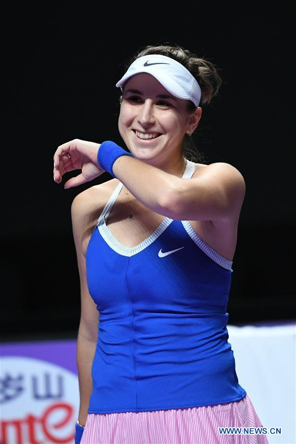 In pics: women's singles round robin match at WTA finals