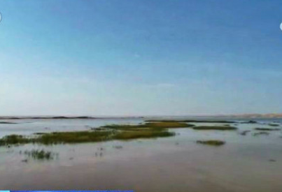 Dried-up lake reappears in Dunhuang after more than 300 years