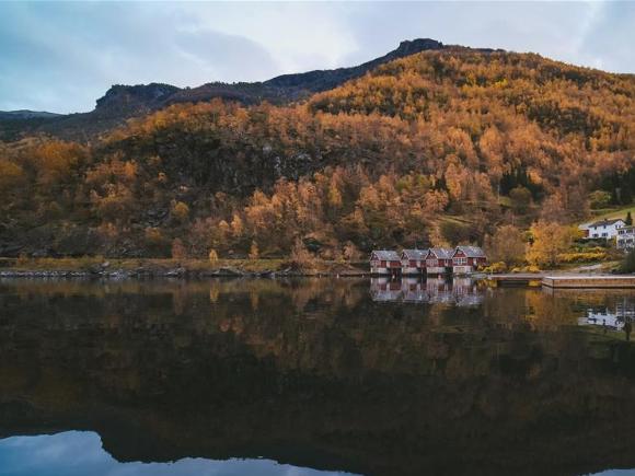 Autumn scenery in Oslo, Norway