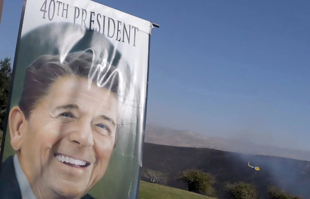 Wildfires spare Reagan library