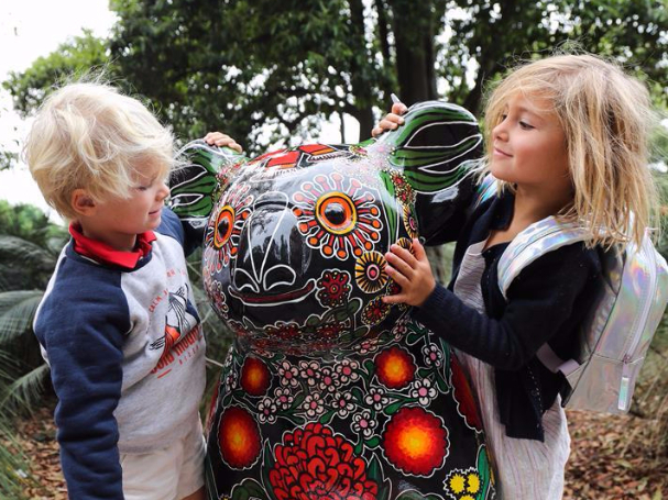 People visit Hello Koalas Sculpture Trail in Sydney, Australia