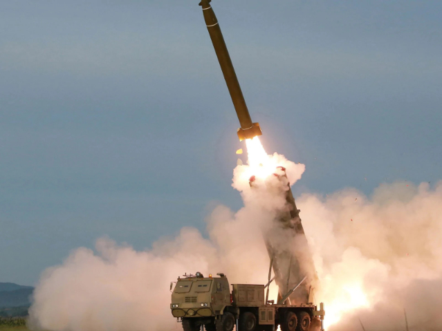DPRK conducts another test-fire of super-large multiple rocket launchers