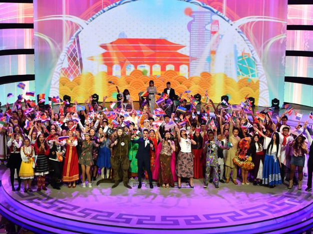 """Final of 12th """"Chinese Bridge"""" contest for non-Chinese secondary school students held in central China's Henan"""