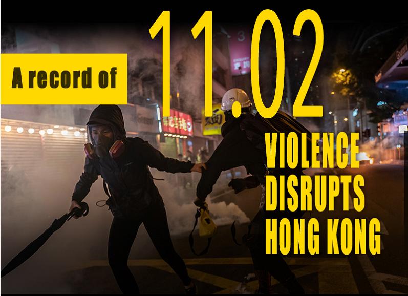 A record of Nov. 2: Violence disrupts Hong Kong