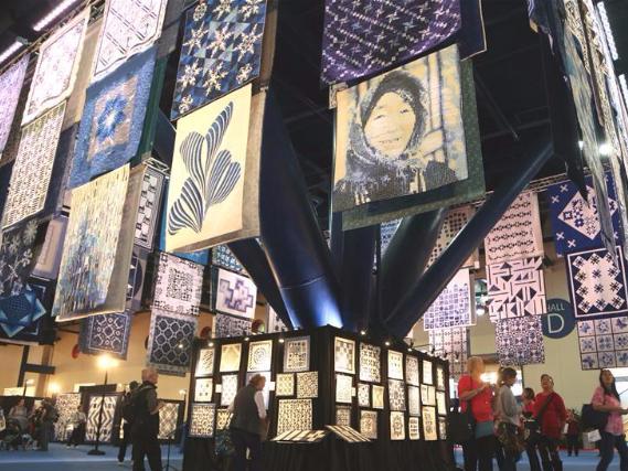 People visit International Quilt Festival in Houston, Texas