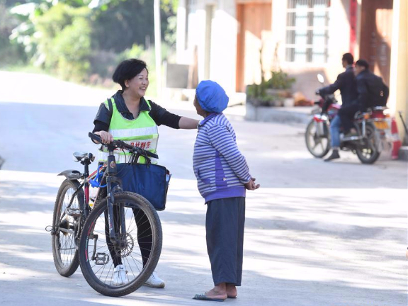 Seven female poverty alleviation officials in China's Guangxi