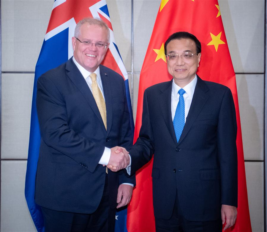 Chinese premier calls for China-Australia ties back to normal track