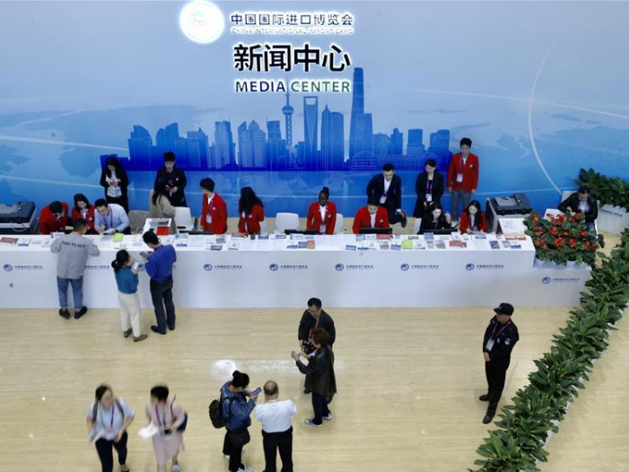 Media center of 2nd China International Import Expo opens to reporters