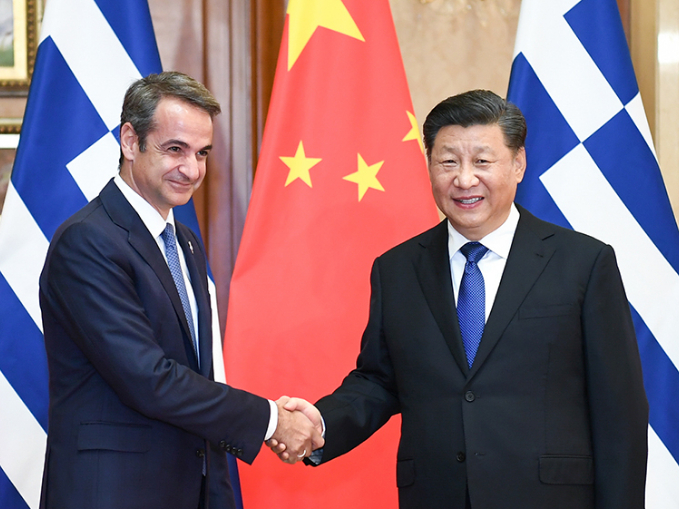 Xi meets Greek PM
