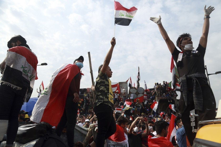 2 killed, 23 wounded in protests in southern Iraq