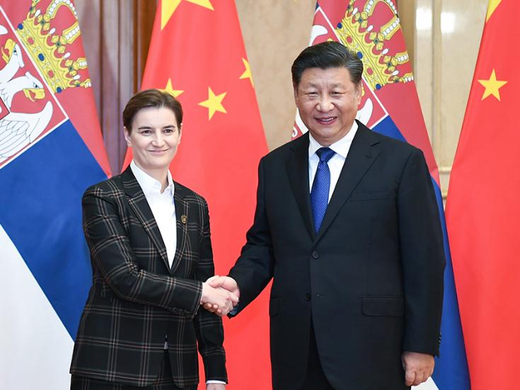Xi meets Serbian PM