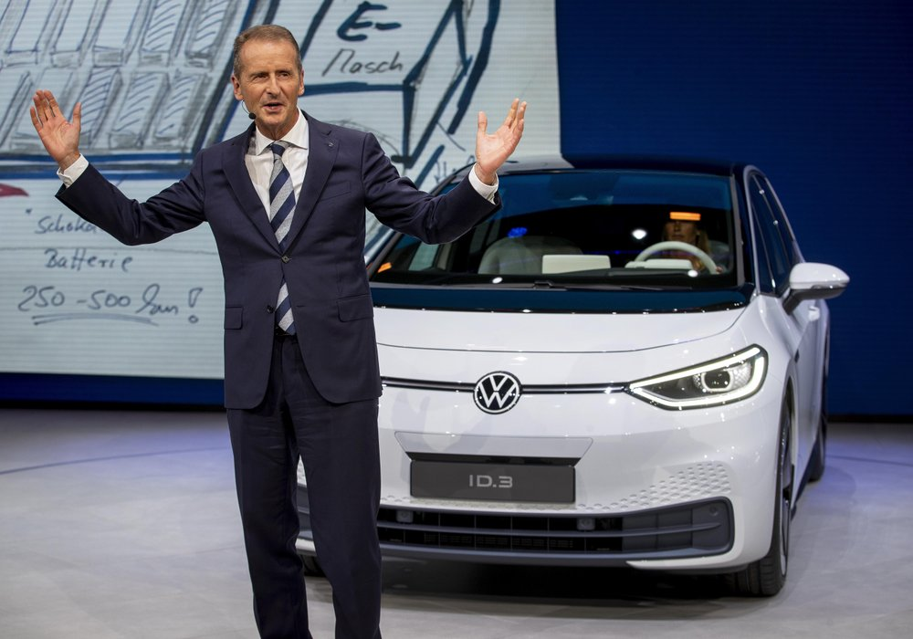 German carmaker Volkswagen presents all-electric vehicle ID.3