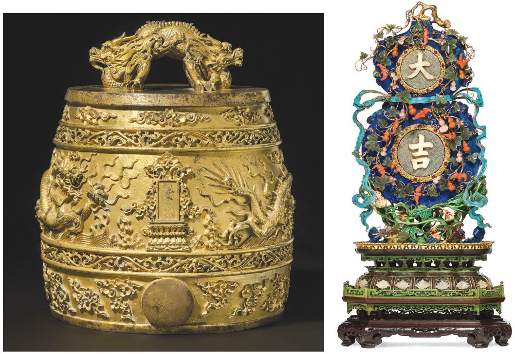 Imperial pieces among star objects at Chinese art sales