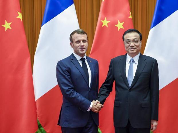 Premier Li meets with Macron