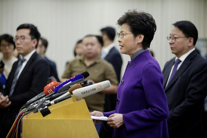 Carrie Lam denounces knife attacks on Junius Ho