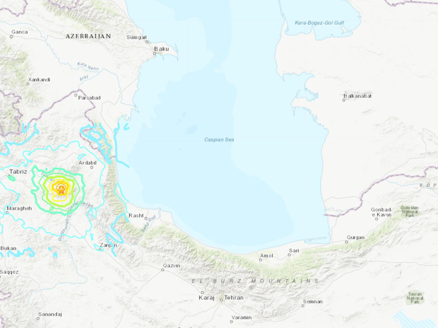 Shallow 5.9 earthquake hits northwestern Iran: USGS
