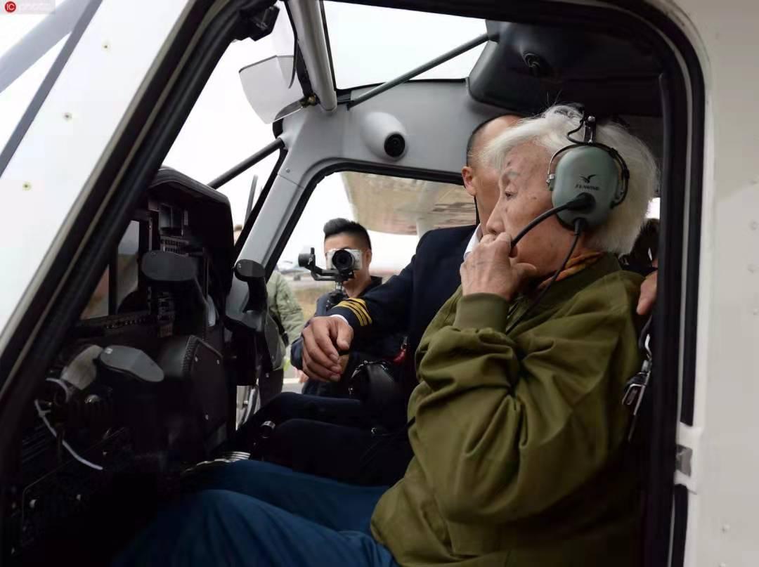 Granny pilot soars in the sky