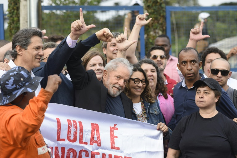 Brazil's freed leftist leader Lula to rally supporters