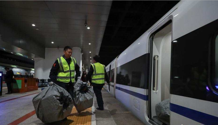 High-speed passengers trains converted to carry packages for China's online shopping festival