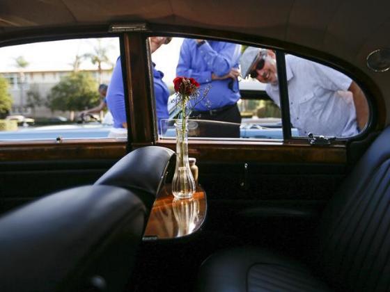 Vintage cars show held in Bowers Museum in Santa Ana, U.S.