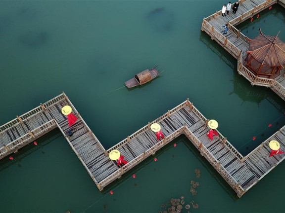 Rural living environment improved in north China's village