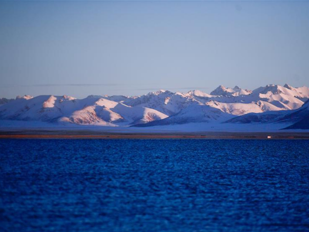 Lake scenery in Maduo County, NW China's Qinghai