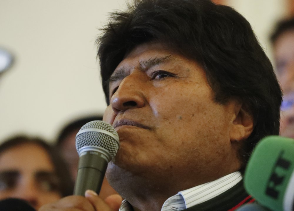 Bolivian President Evo Morales accepts political asylum offered by Mexico
