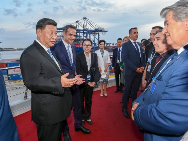 Xi, Greek PM visit Piraeus Port, hail BRI cooperation