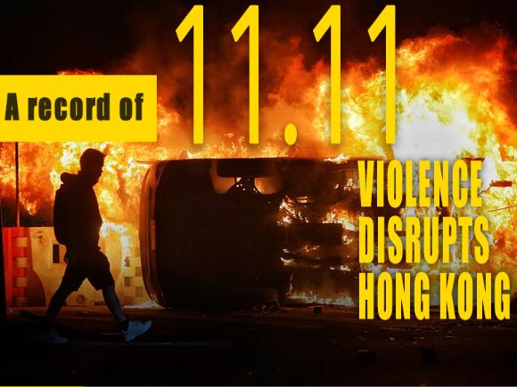 Violence disrupts HK on November 11