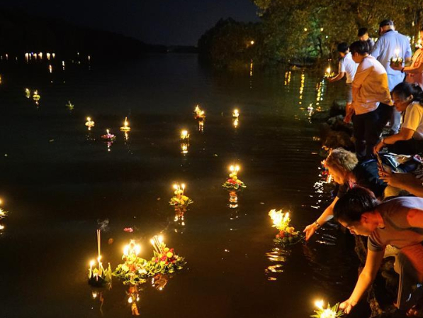 People celebrate Loy Krathong Festival in Bandar Seri Begawan, Brunei