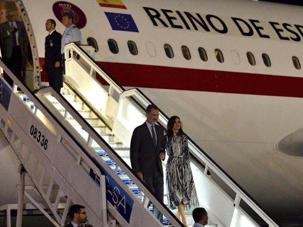 Spanish king arrives in Havana, Cuba