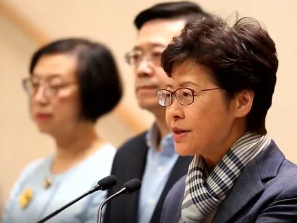"""HKSAR chief executive terms rioters """"extremely selfish"""" for trying to paralyze Hong Kong"""